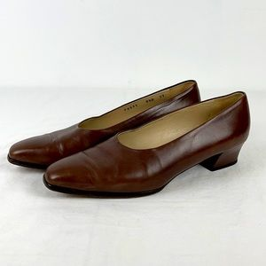 Cole Haan Green Label Brown Leather Pumps
